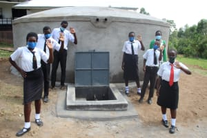 The Water Project: Friends Mixed Secondary School Lwombei -  Posing At The Water Tank