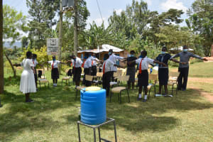 The Water Project: Friends Mixed Secondary School Lwombei -  Physical Distancing Check
