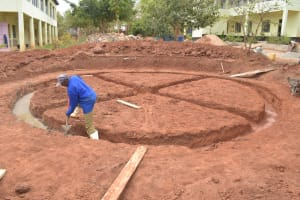The Water Project: Kalisasi Secondary School -  Beginning Foundation Work