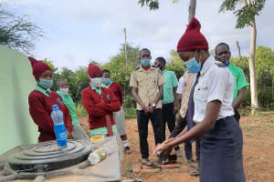 The Water Project: Kalisasi Secondary School -  Handwashing Demonstration