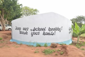 The Water Project: Kalisasi Secondary School -  Painted Tank