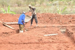The Water Project: Kalisasi Secondary School -  Pouring Cement