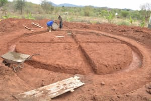 The Water Project: Kalisasi Secondary School -  Tank Foundation Prep