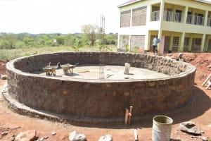 The Water Project: Kalisasi Secondary School -  Tank Wall Progress