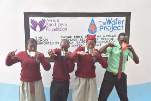The Water Project: Kalisasi Secondary School -  Thumbs Up For Reliable Water