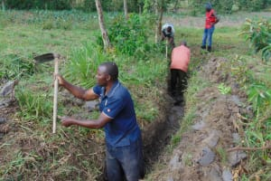 The Water Project: Elwichi Community, Mulunda Spring -  Drainage Opening