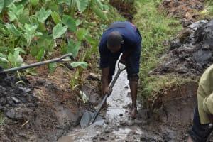 The Water Project: Isanjiro Community, Musambai Spring -  Drainage Opening