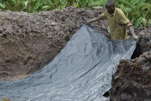 The Water Project: Isanjiro Community, Musambai Spring -  Fitting The