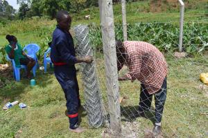 The Water Project: Isanjiro Community, Musambai Spring -  Fencing