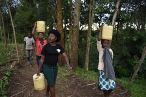 The Water Project: Bumira Community, Savai Spring -  Carrying Water