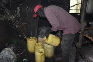 The Water Project: Bumira Community, Savai Spring -  Storing Water