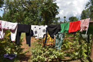 The Water Project: Bumira Community, Savai Spring -  Clothesline