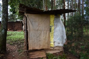 The Water Project: Bumira Community, Savai Spring -  Latrine