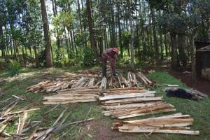 The Water Project: Bumira Community, Savai Spring -  Splitting Firewood