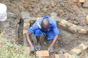 The Water Project: Mukoko Community, Zebedayo Mutsotsi Spring -  Brick Setting