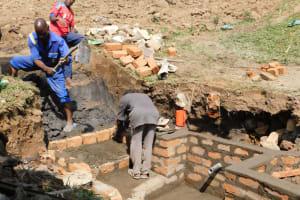 The Water Project: Mukoko Community, Zebedayo Mutsotsi Spring -  Stairs Construction