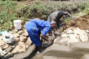 The Water Project: Mukoko Community, Zebedayo Mutsotsi Spring -  Stone Pitching