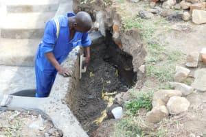 The Water Project: Mukoko Community, Zebedayo Mutsotsi Spring -  Plastering