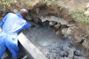 The Water Project: Mukoko Community, Zebedayo Mutsotsi Spring -  Backfilling Clay Works