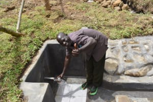 The Water Project: Mukoko Community, Zebedayo Mutsotsi Spring -  Albert Mutsotsi Spring Chair Excited About Flowing Water