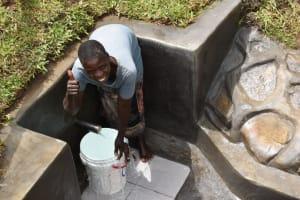 The Water Project: Mukoko Community, Zebedayo Mutsotsi Spring -  Josephine Ondeyo Posing At The Water Source