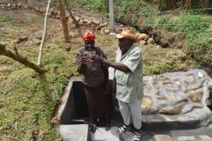 The Water Project: Mukoko Community, Zebedayo Mutsotsi Spring -  Mr And Mrs Zebedayo Mutsotsi Cheers To Clean Water