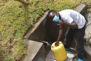 The Water Project: Mukoko Community, Zebedayo Mutsotsi Spring -  Okanga Smith Excited About The New Water Source