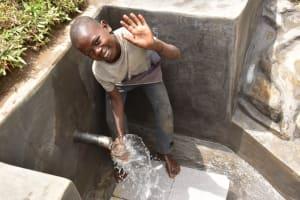 The Water Project: Mukoko Community, Zebedayo Mutsotsi Spring -  Paul Happy About The New Water Source