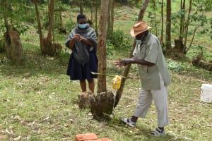 The Water Project: Mukoko Community, Zebedayo Mutsotsi Spring -  Zebedayo Mutsotsi Learning How To Wash His Hands Well