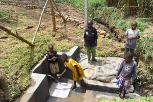 The Water Project: Mukoko Community, Zebedayo Mutsotsi Spring -  Children Happy At The Spring