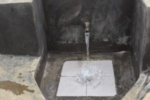The Water Project: Mukoko Community, Zebedayo Mutsotsi Spring -  Clear Water Flowing Into A Glass