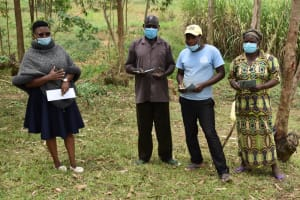 The Water Project: Mukoko Community, Zebedayo Mutsotsi Spring -  Facilitator With Elected Water User Committee Officials