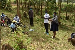 The Water Project: Mukoko Community, Zebedayo Mutsotsi Spring -  Homemade Mask Making Session