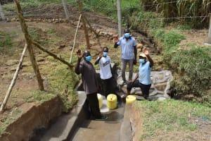 The Water Project: Mukoko Community, Zebedayo Mutsotsi Spring -  Men Posing At The Water Source