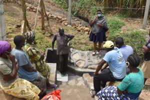 The Water Project: Mukoko Community, Zebedayo Mutsotsi Spring -  Onsite Training About Spring Maintenance