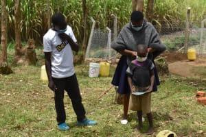 The Water Project: Mukoko Community, Zebedayo Mutsotsi Spring -  Putting On A New Mask