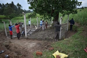 The Water Project: Mukhuyu Community, Gideon Kakai Chelagat Spring -  Fencing