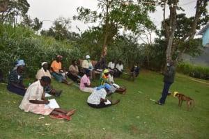 The Water Project: Mukhuyu Community, Gideon Kakai Chelagat Spring -  Ongoing Training