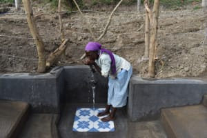 The Water Project: Mukhuyu Community, Gideon Kakai Chelagat Spring -  Sipping Water