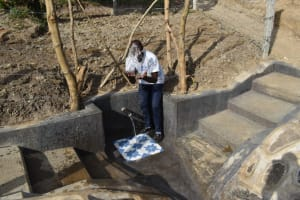 The Water Project: Mukhuyu Community, Gideon Kakai Chelagat Spring -  Field Officer Jonathan Celebrates The Completed Spring