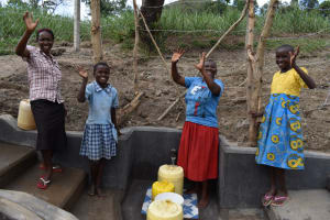 The Water Project: Mukhuyu Community, Gideon Kakai Chelagat Spring -  Women And Girls Celebrate The Spring