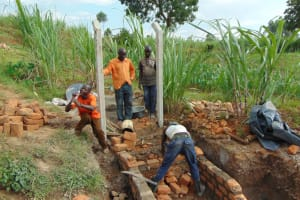 The Water Project: Shihome Community, Oloo Njinuli Spring -  Stairs Construction