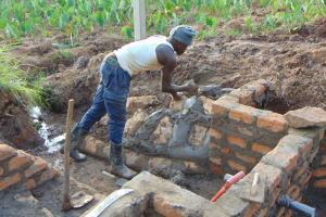 The Water Project: Shihome Community, Oloo Njinuli Spring -  Stone Pitching