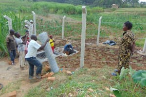 The Water Project: Shihome Community, Oloo Njinuli Spring -  Fencing