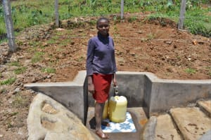 The Water Project: Shihome Community, Oloo Njinuli Spring -  Mary At The Spring