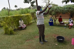 The Water Project: Shihome Community, Oloo Njinuli Spring -  Solar Disinfection Session