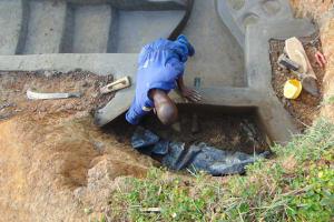 The Water Project: Shianda Commnity, Mukeya Spring -  Inside Plaster