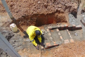The Water Project: Shianda Commnity, Mukeya Spring -  Stairs Construction