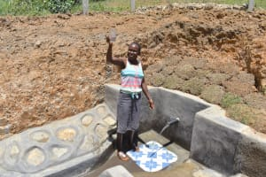 The Water Project: Shianda Commnity, Mukeya Spring -  A Toast To Clean Water