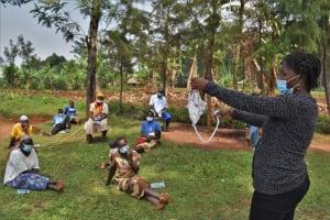 The Water Project: Shianda Commnity, Mukeya Spring -  Training On Mask Making